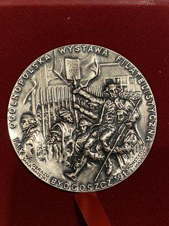 Medal XVI Ogólnopolska Wyst. Filatelistyczna Bydgoszcz 1991. Mennica P