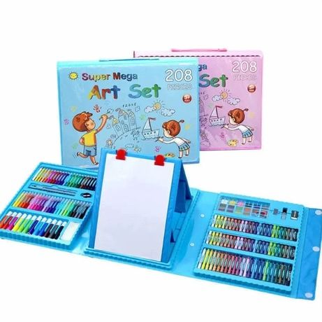 Большой детский набор для рисования Super Art Set, 208 предметов, с кр