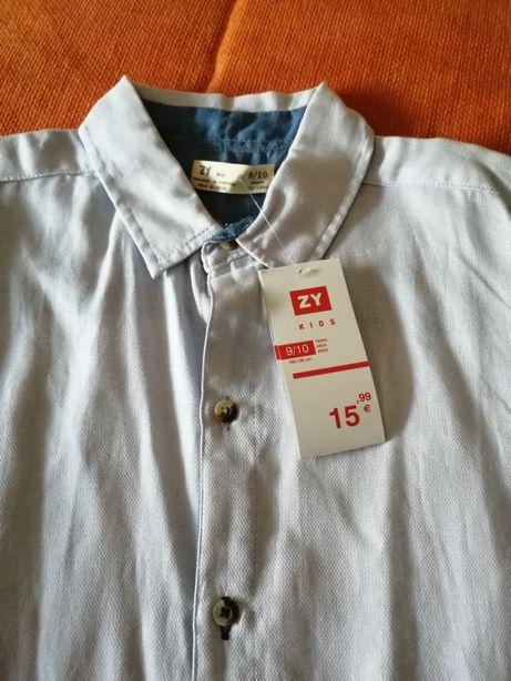 Camisa de menino Tam. 9/10 anos zippy
