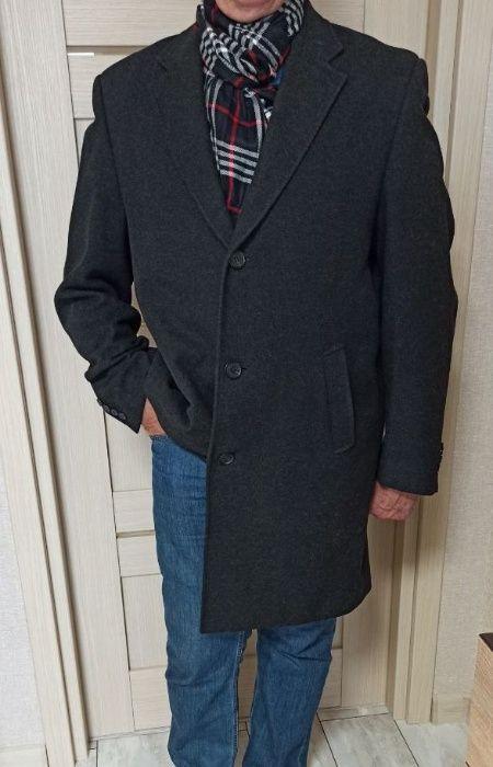 Мужское элегантное пальто Marks&Spenser, р.52, темно серое. Торг. Ирпень - изображение 1