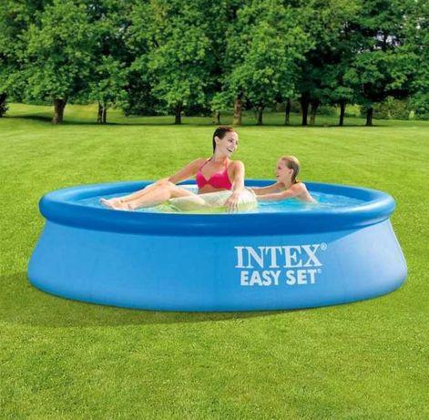 Intex компактный - круглый бассейн на 1942л / Интекс надувной /