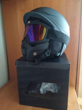 Nowy kask Pathron maska gogle narty/snowboard