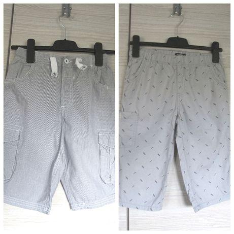 szorty chłopiec 146/152 spodnie lato do kolan szare pas guma 2 za 12zł