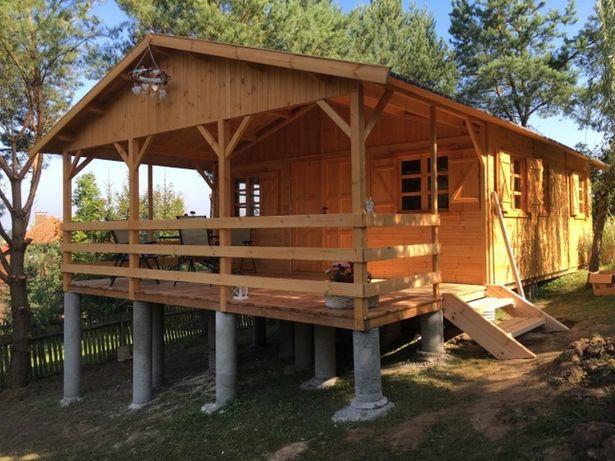 domek drewniany letniskowy drewniane dom domki domy z drewna WARBIT