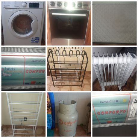 Maquina de lavar,fogão,colchão e mais