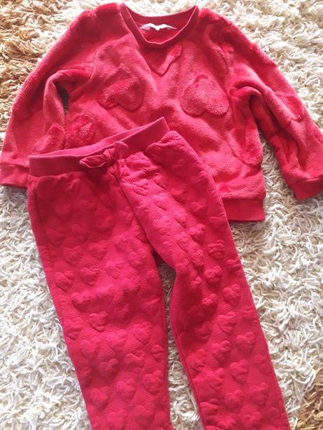 Теплая  кофта и штани Н&М костюм