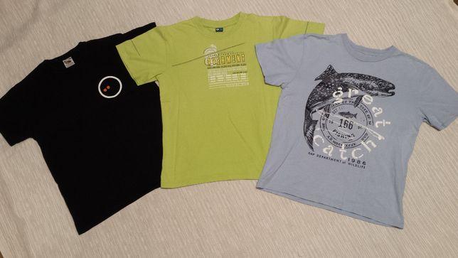 FRUIT LOOM, GAP, GT, roz. 146, zestaw 3szt. koszulek, T-shirt