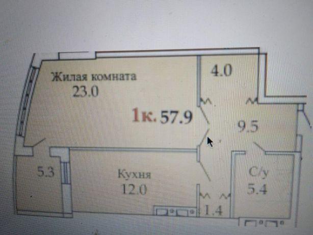 Продаю 1к квартиру 58 кв. м, Люстдорфская дорога 55