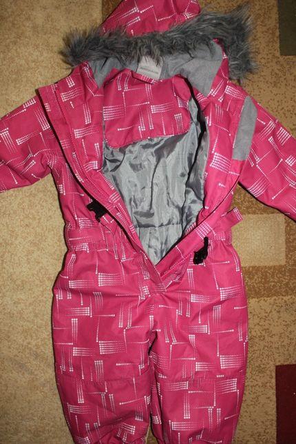 комбинезон на девочку 1-2 года розовый фирменный термо