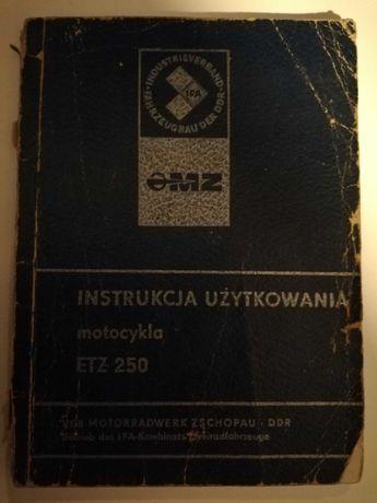 Instrukcja obsługi MZ  ETZ 250