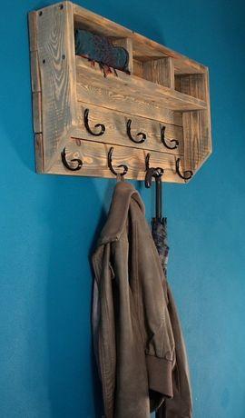 wieszak na ubrania - rustykalny, industrial, shabby, vintage loft