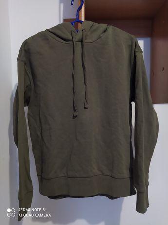 Bluza z kapturem khaki Basic H&M Nowa S