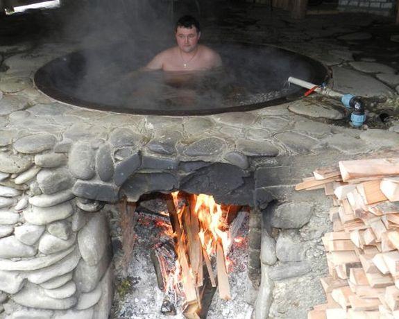 Чан чугунный для купания баня на дровах от производителя в Украине