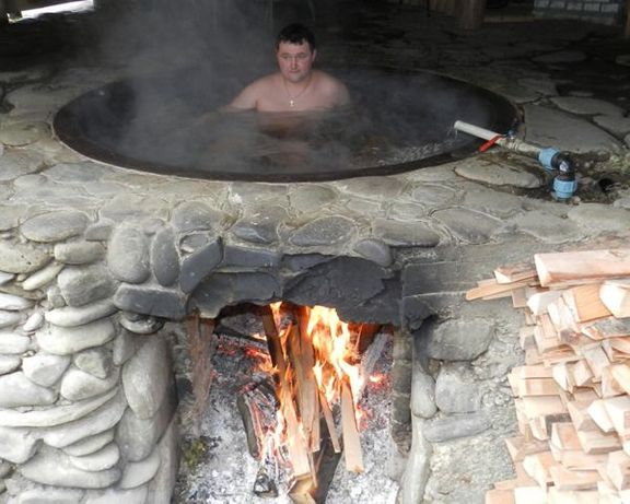 Чан чугунный для купания баня на дровах от производителя