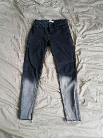 Spodnie cieniowane ZARA r.36 ombre jeansy rurki poszukiwane