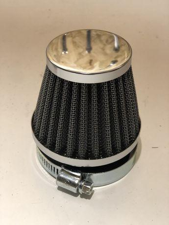 Filtr stożkowy 54mm, chrom