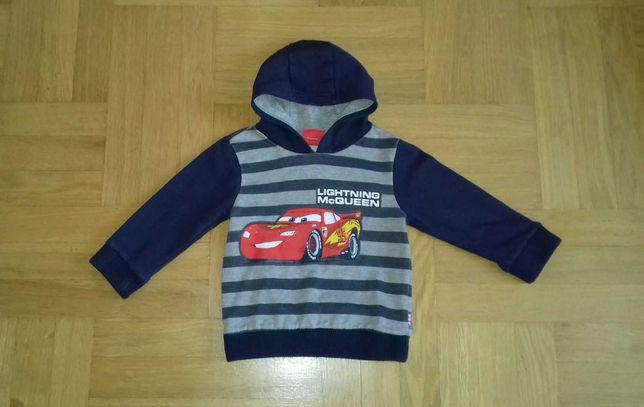 92-98 ciepła bluza z kapturem ZYGZAK Auta