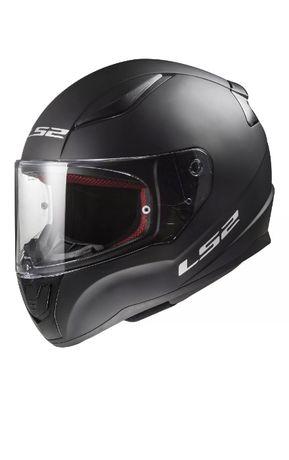 Zabudowany kask motocyklowy marki LS2 RAPID czarny mat.
