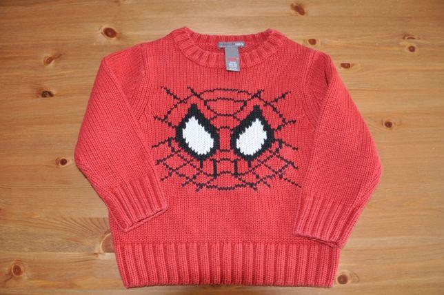 H&M Sweterek Spider Man rozm. 86, 12-18 m
