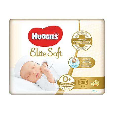 Підгузки Huggies Elite Soft розмір 0+ (до 3.5 кг), 25 шт