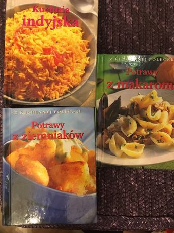 3 ksiażki kucharskie