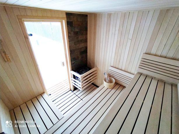 Sauna Fińska 230/230 ogrodowa zewnętrzna z piecem Harvia  Fa VAT nowa