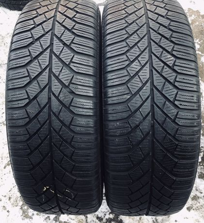 Continental 205/55r16 2 шт зима резина шины б/у склад