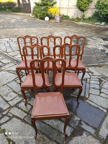 Krzesła Ludwik kpl 6 krzeseł dąb