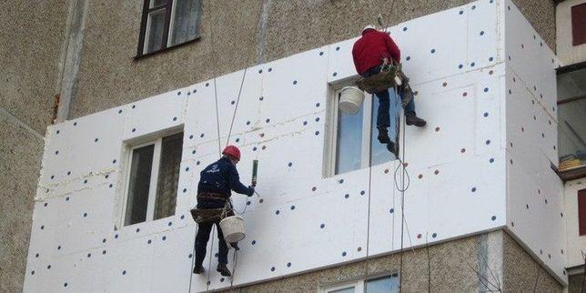 Утепление фасадов, высотные работы, стяжка домов.
