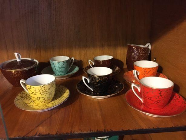 Chodziez. Польский кофейный сервиз. Кофейные чашки, фарфор