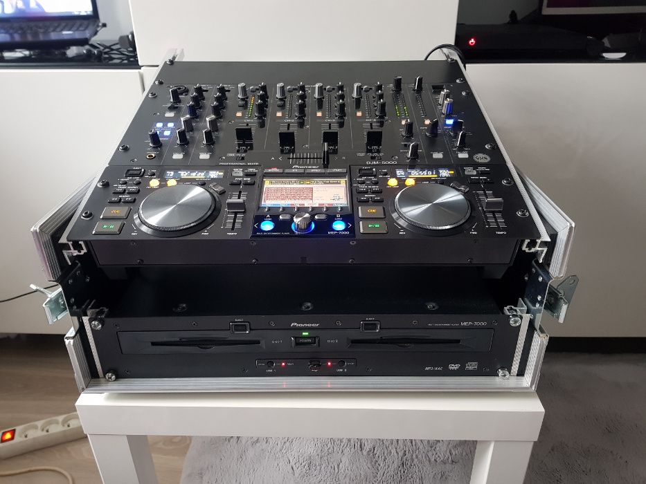 Pioneer MEP 7000 + mikser DJM 5000+case