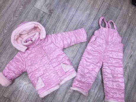 Теплющий зимний костюм на 1,5-2,5 годика