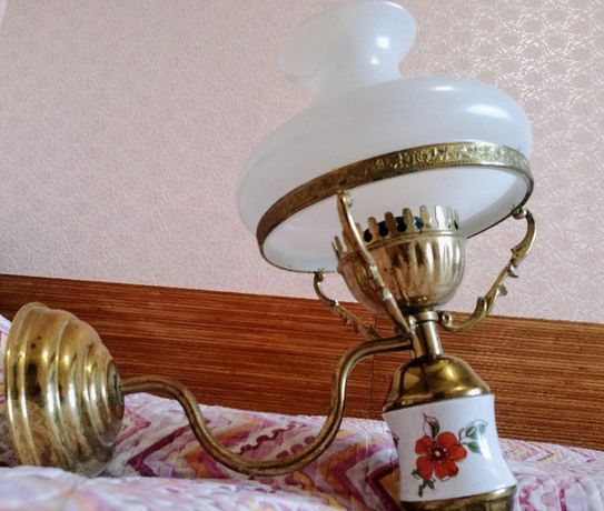 Светильник бра бронза, латунь, фарфор