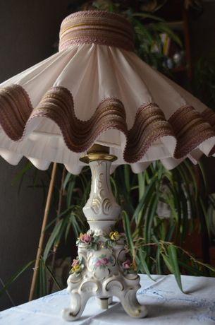 Lampa porcelana Dresden sygnowana