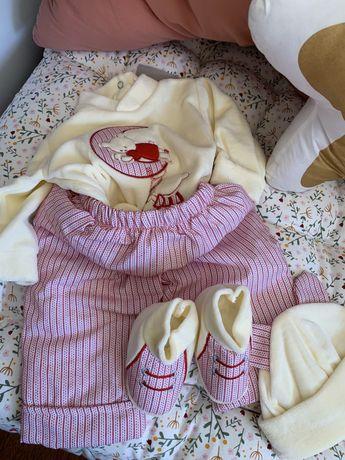 Roupa/fato/conjunto Bebé Veludo/tecido 3M