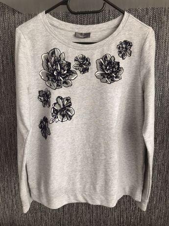 Bluza damska basic kwiaty S/M