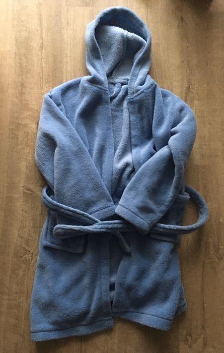 Niebieski polarowy szlafrok dziecięcy 104/110 Gdańsk - image 1