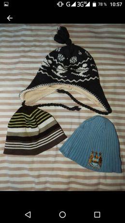 Демисезонные шапки 1,5-2 г 3 шт