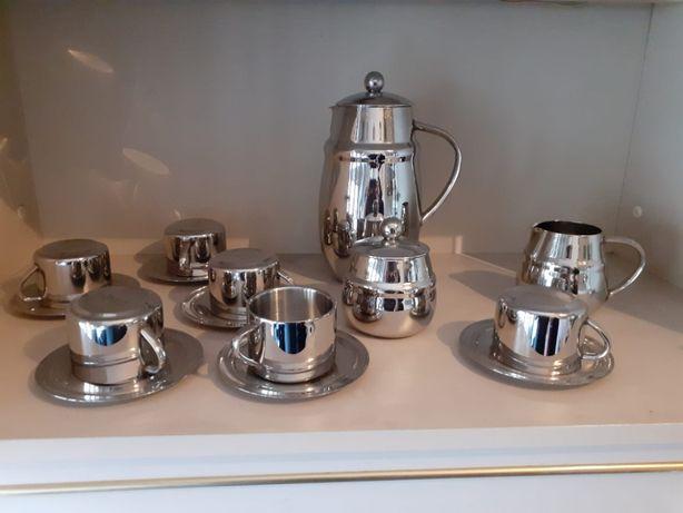 serviço completo de chá/café em aço inoxidável BergHOFF