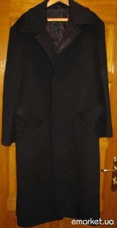 Мужское пальто чёрная сукно ,Новое