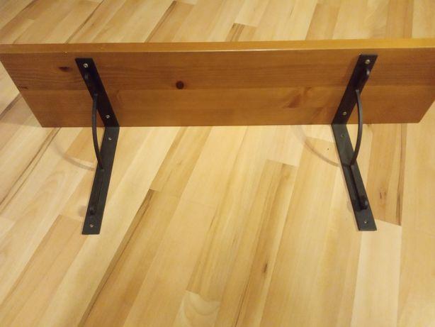 Półka 80 sosnowa lite drewno industrialna