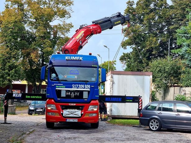 Transport Gabarytów,kontenerów 12m ,usługi HDS 20t, podczołgówka Śląsk