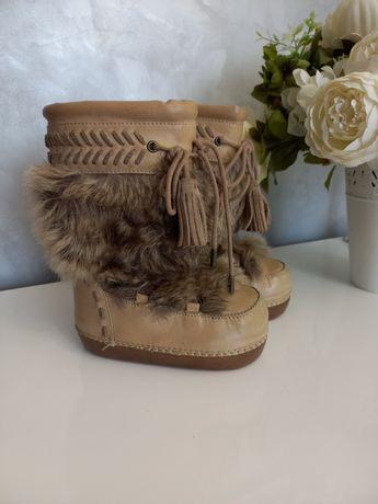 Шкіряні зимові чобітки