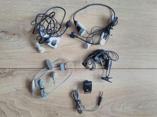 Słuchawki douszne telefon Nokia Siemens Samsung HTC USB ładowarka