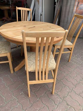 Stół i cztery krzesła Sosna dowóz
