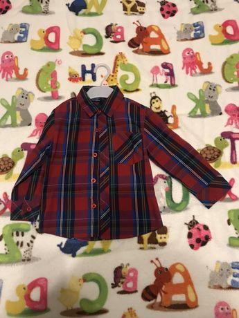 Koszula chłopiec świąteczne kolory krata Boże Narodzenie 92 98 3 latka