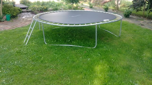 Wyprzedaż! Trampolina ogrodowa 312 cm z siatką i drabinką