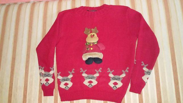 Новогодний свитер на рост 140-146 см.