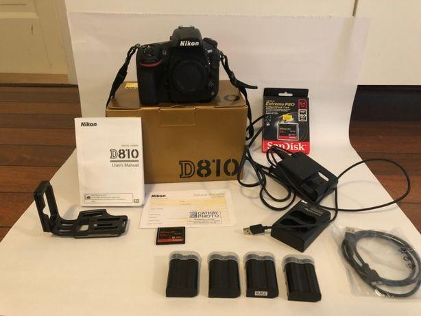 Nikon D810 + Pro akcesoria + przebieg TYLKO 10K