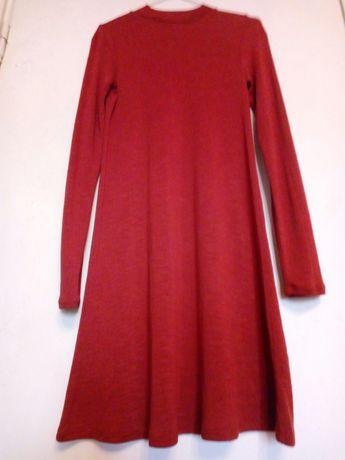 Платье трикотаж цвет терракотовый